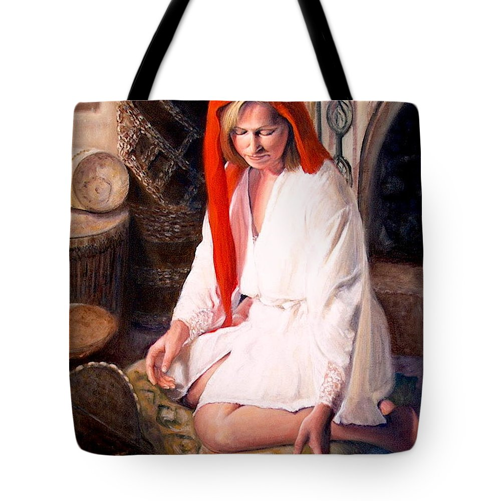 Realism Tote Bag featuring the painting African Strings 4 by Donelli DiMaria