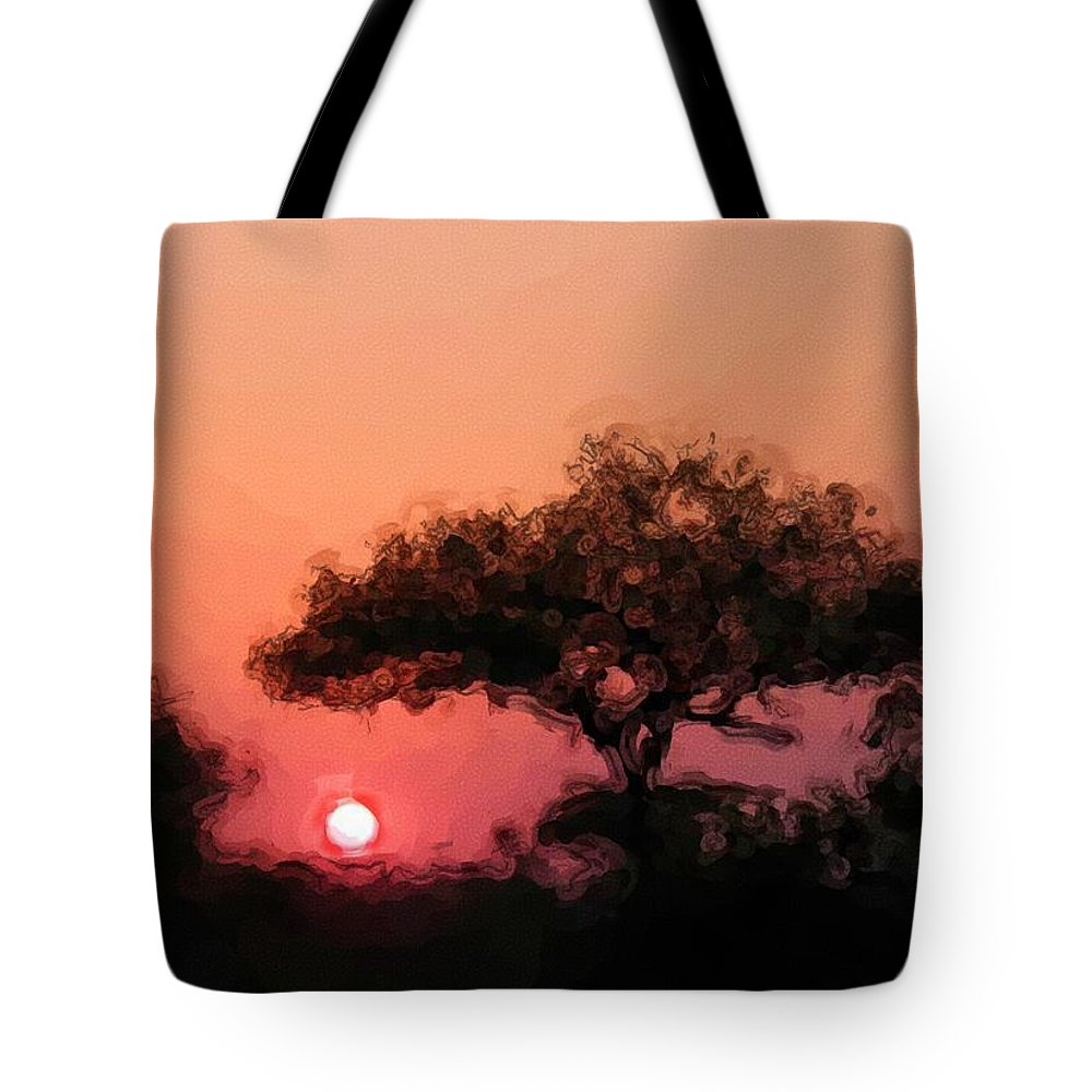 Digital Photography Tote Bag featuring the photograph African Sunset by David Lane