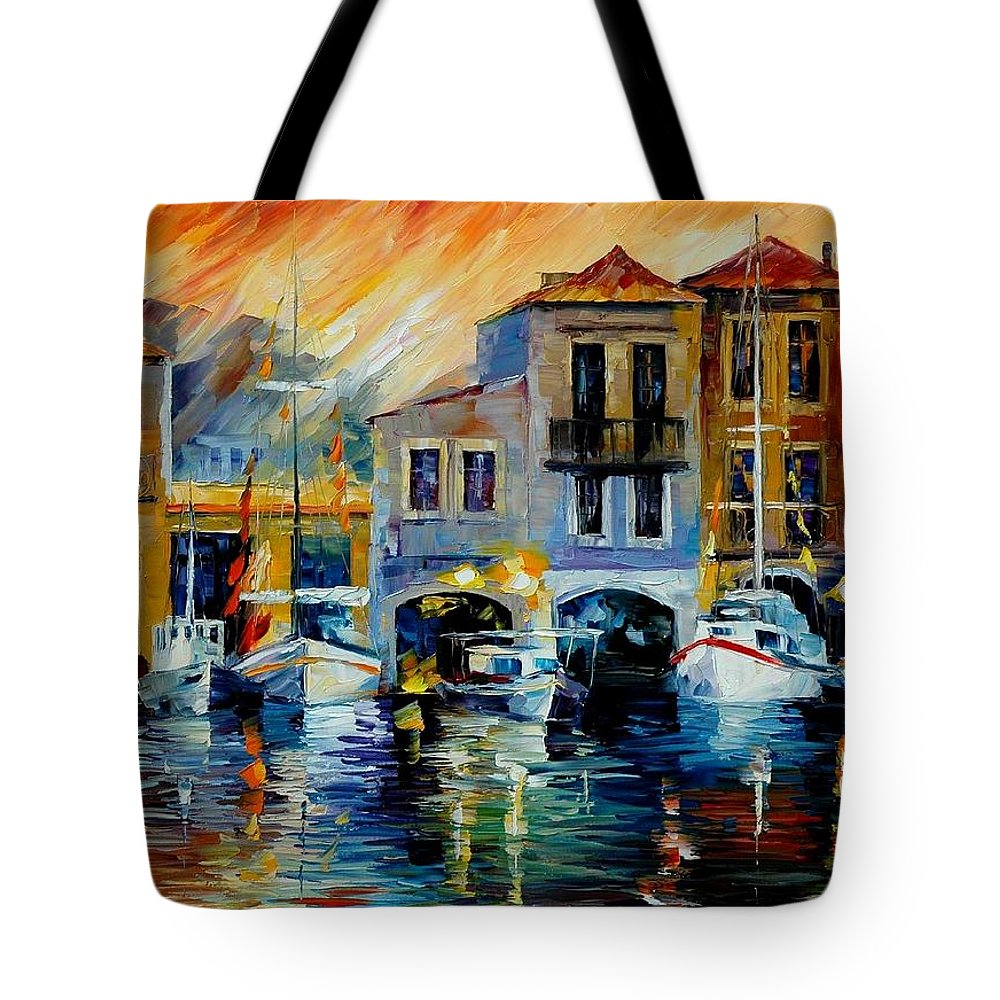 Afremov Tote Bag featuring the painting After A Day's Work by Leonid Afremov
