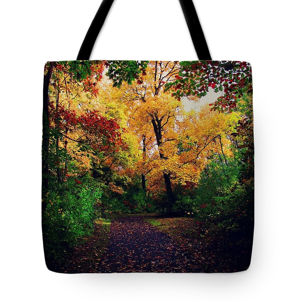 Woods Tote Bag featuring the photograph After Fall II by Devin Dixon