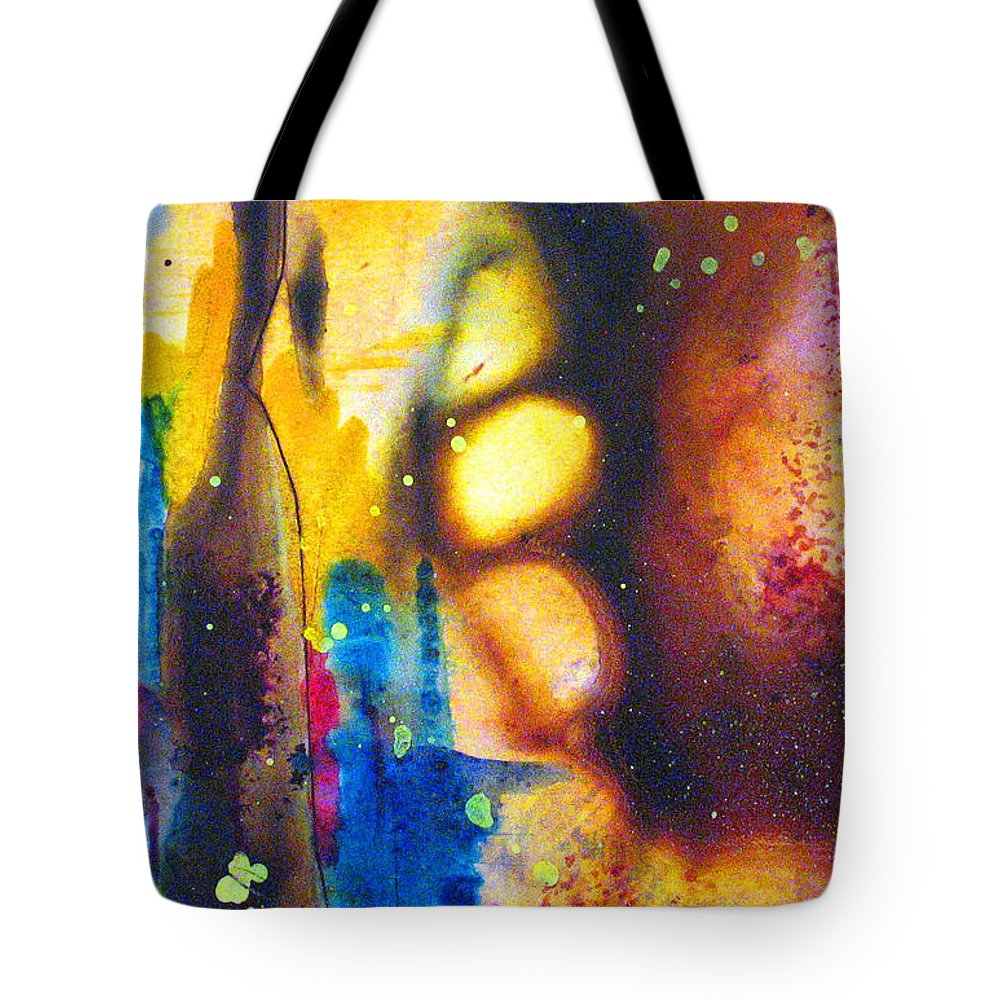 Wine Tote Bag featuring the painting After Five by Janice Nabors Raiteri