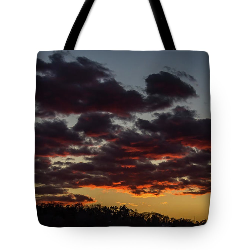 Sundown Tote Bag featuring the photograph After Glow by Kevin Myron
