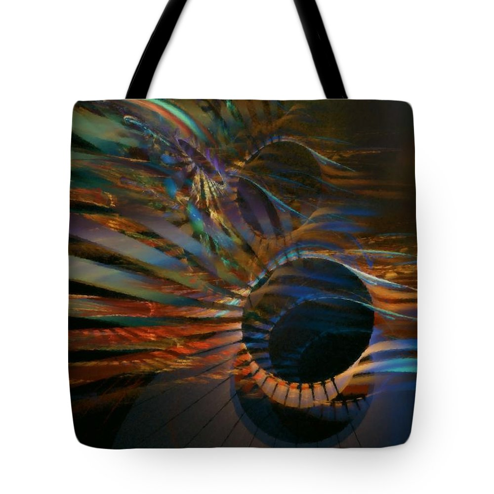 Abstract Tote Bag featuring the digital art After Hours by NirvanaBlues
