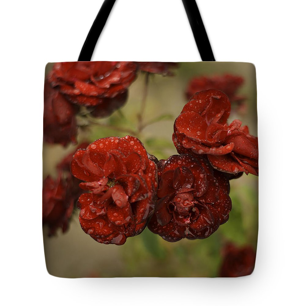 Flowers Tote Bag featuring the photograph After Rain by Stormy Mystique