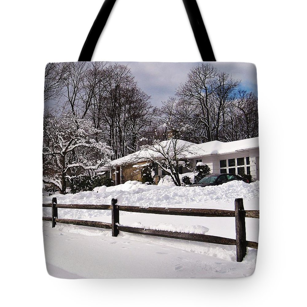 Snow Tote Bag featuring the digital art After The Blizzard by Mikki Cucuzzo