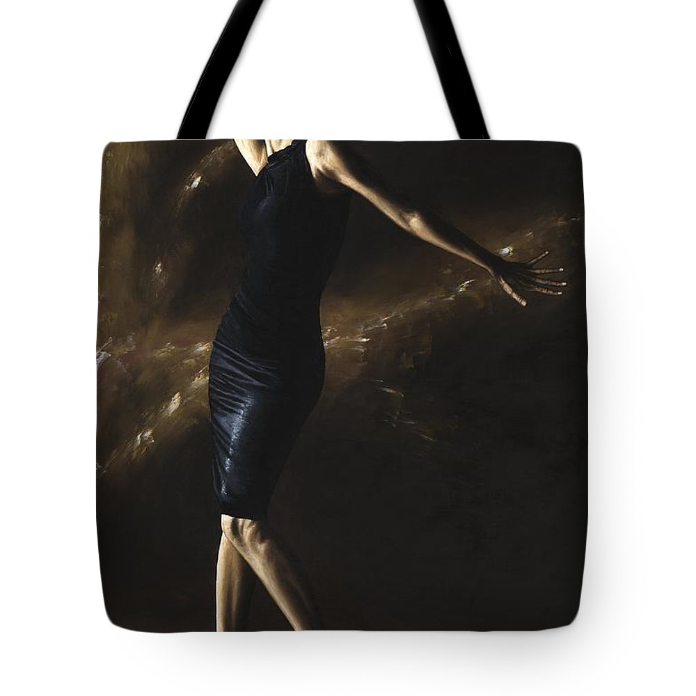 Dance Tote Bag featuring the painting After The Dance by Richard Young