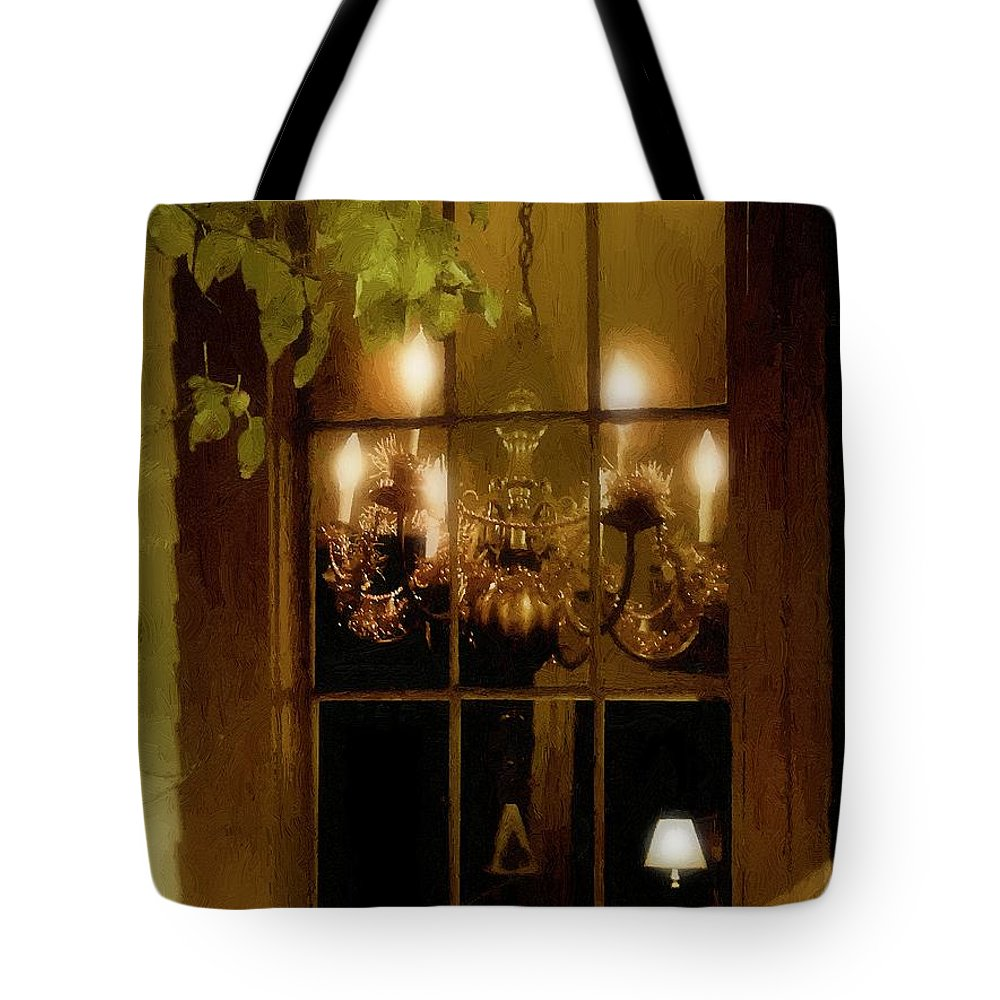 Window Tote Bag featuring the painting After The Feast by RC DeWinter