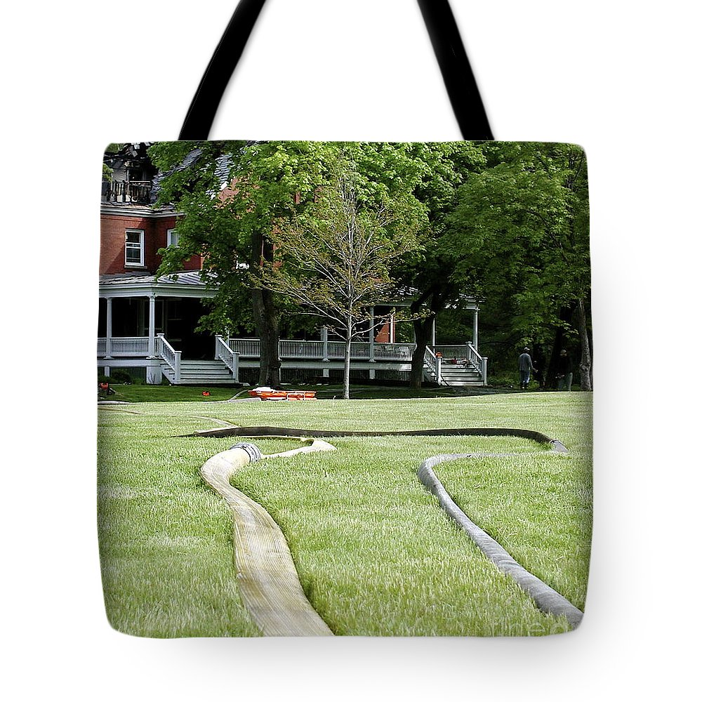 Fire Tote Bag featuring the photograph After The Fire by Faith Harron Boudreau