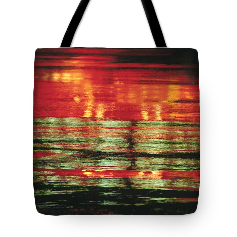 Abstract Tote Bag featuring the photograph After The Rain Abstract 1 by Tony Cordoza