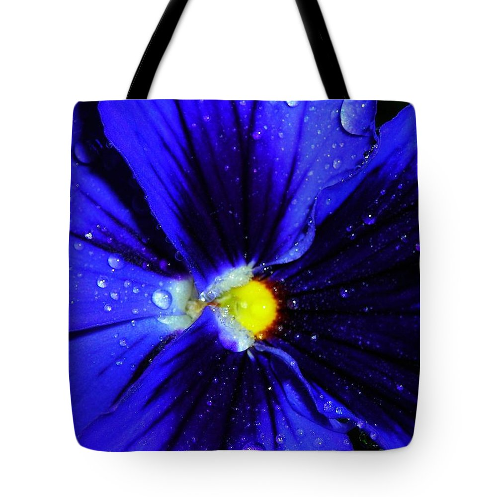 Flower Tote Bag featuring the photograph After The Rain ... by Juergen Weiss