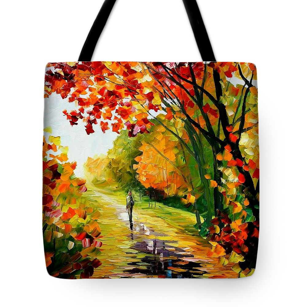 Afremov Tote Bag featuring the painting After The Rain by Leonid Afremov