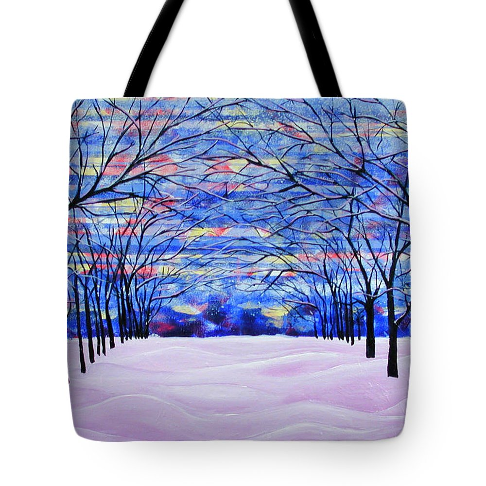Landscape Tote Bag featuring the painting After The Snow by Rollin Kocsis