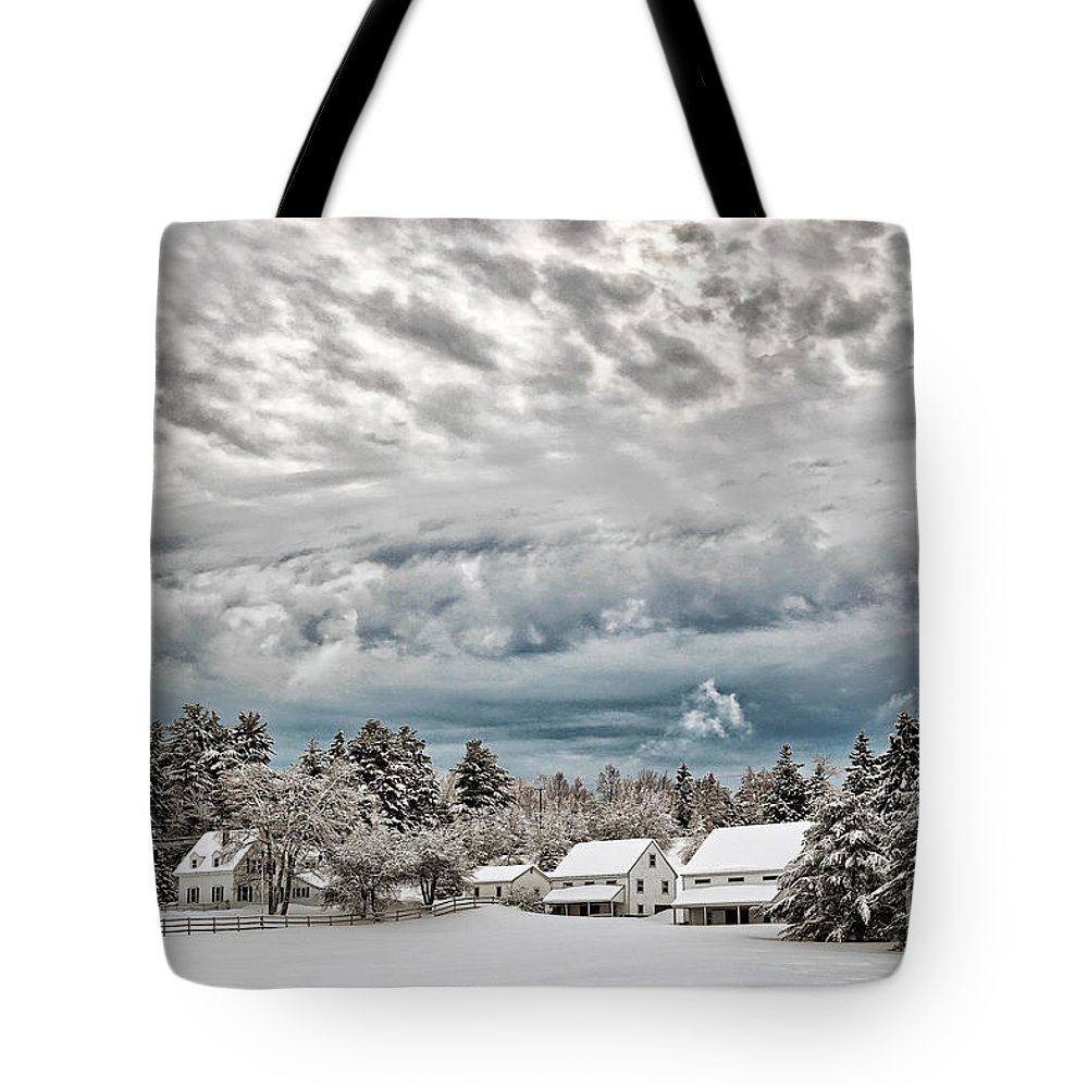 Winter Tote Bag featuring the photograph After The Snow Storm by Susan Garver
