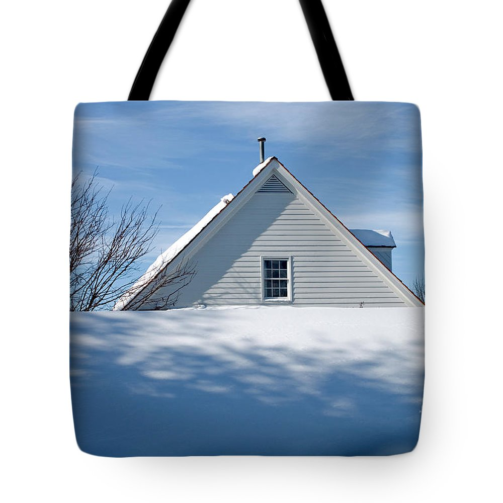 Snow Tote Bag featuring the photograph After The Snowfall by Thomas Marchessault