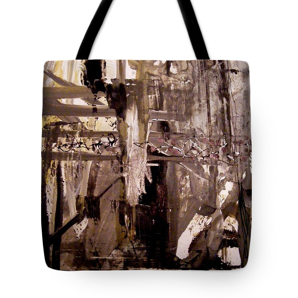 Ink And Gouache Tote Bag featuring the painting After The Storm 2 by Nancy Kane Chapman