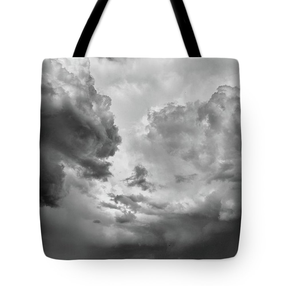 Abstract Tote Bag featuring the photograph After The Storm Bw by Lyle Crump