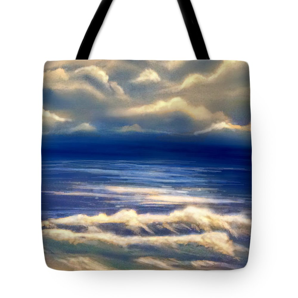 Storm Tote Bag featuring the painting After The Storm by Veronica Castaneda