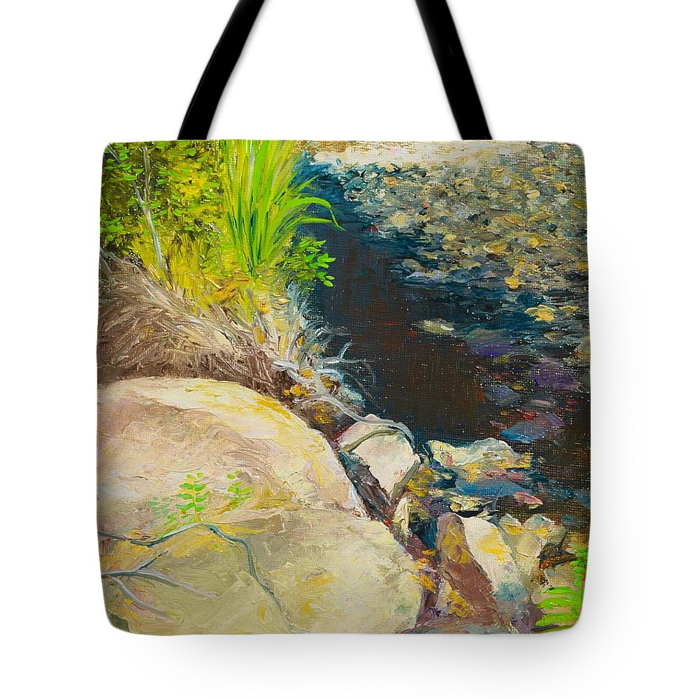 River Tote Bag featuring the painting Afternoon Beside The Lane Cove River by Dai Wynn