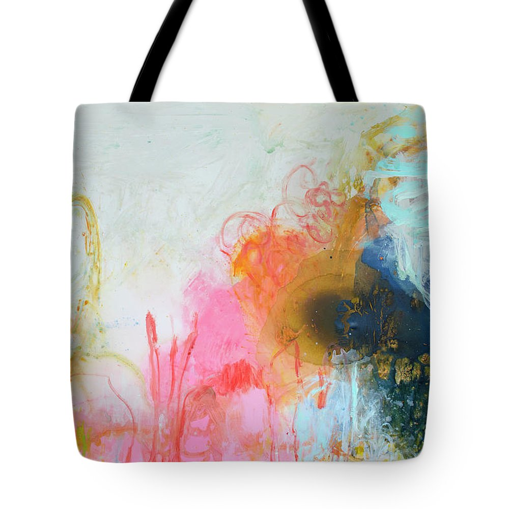 Abstract Tote Bag featuring the painting Afternoon Snooze by Claire Desjardins