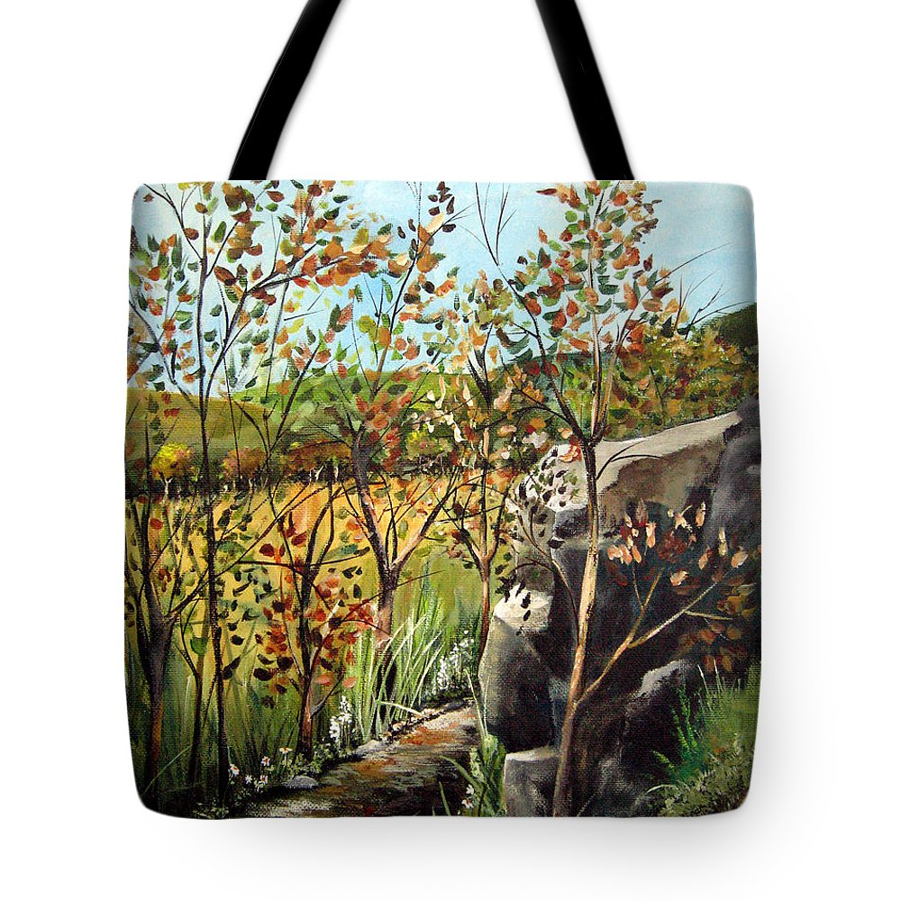 Tote Bag featuring the painting Afternoon Stroll by Ruth Palmer