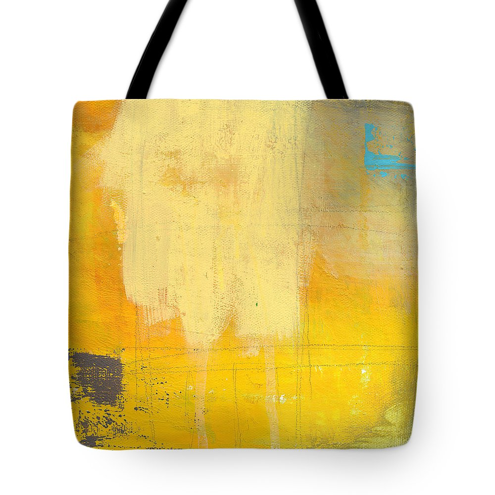 Abstract Tote Bag featuring the painting Afternoon Sun -large by Linda Woods