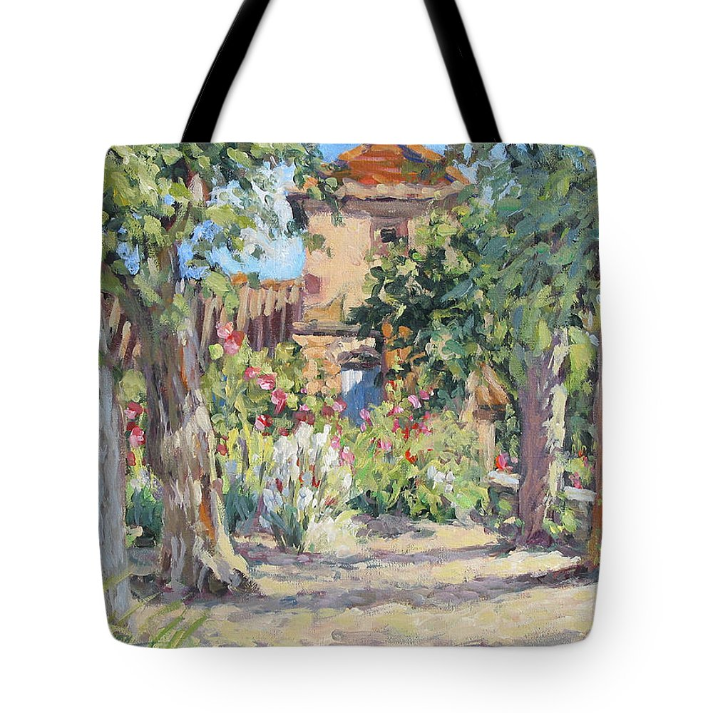 France Tote Bag featuring the painting Afternoon Tea by L Diane Johnson