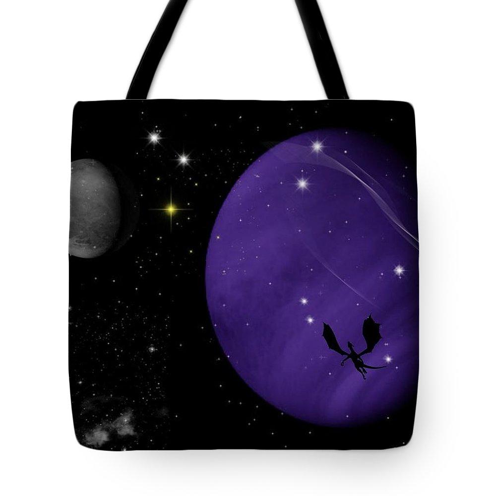 Dragon Tote Bag featuring the digital art Again They Rise by Rhonda Barrett