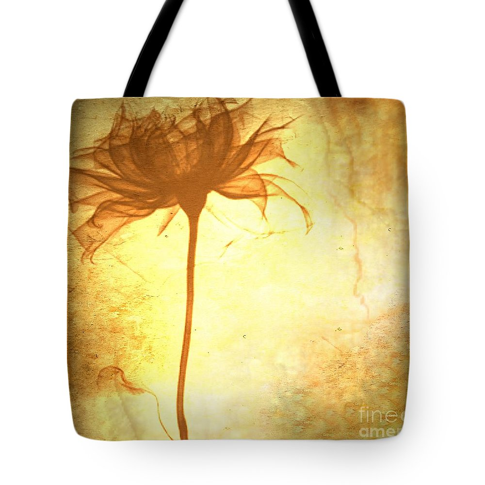 Flower Tote Bag featuring the painting Against All Odds by Jacky Gerritsen