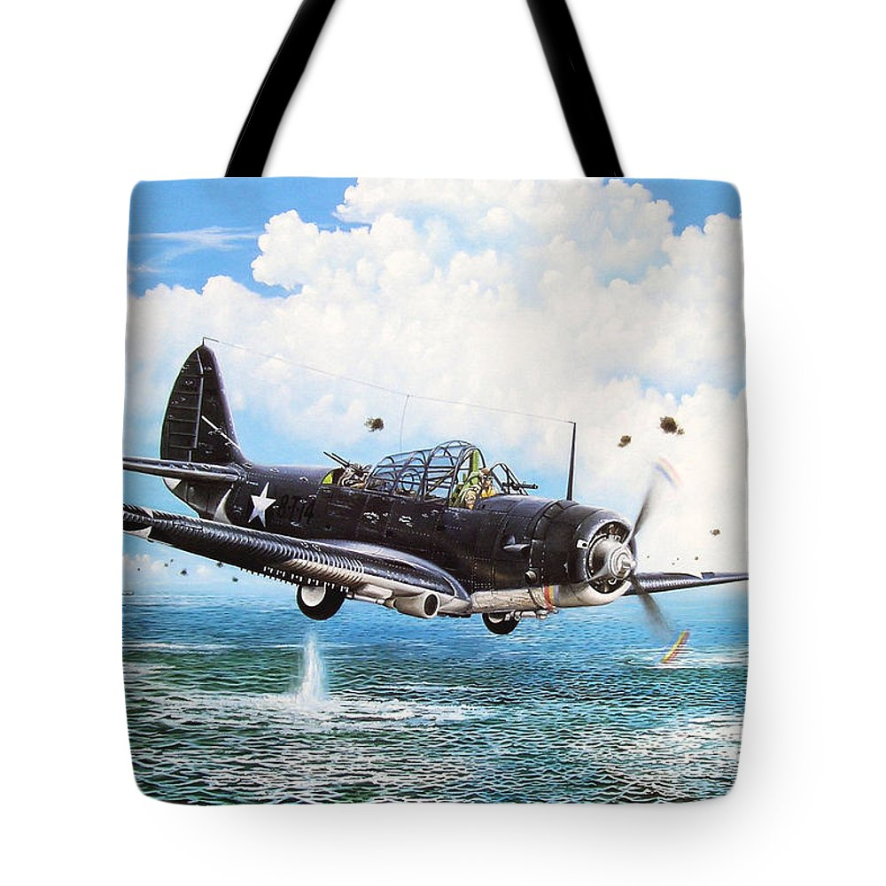 Military Tote Bag featuring the painting Against The Odds by Marc Stewart