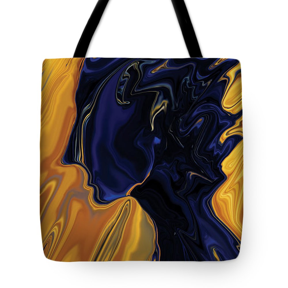 Abstract Tote Bag featuring the digital art Against The Wind by Rabi Khan
