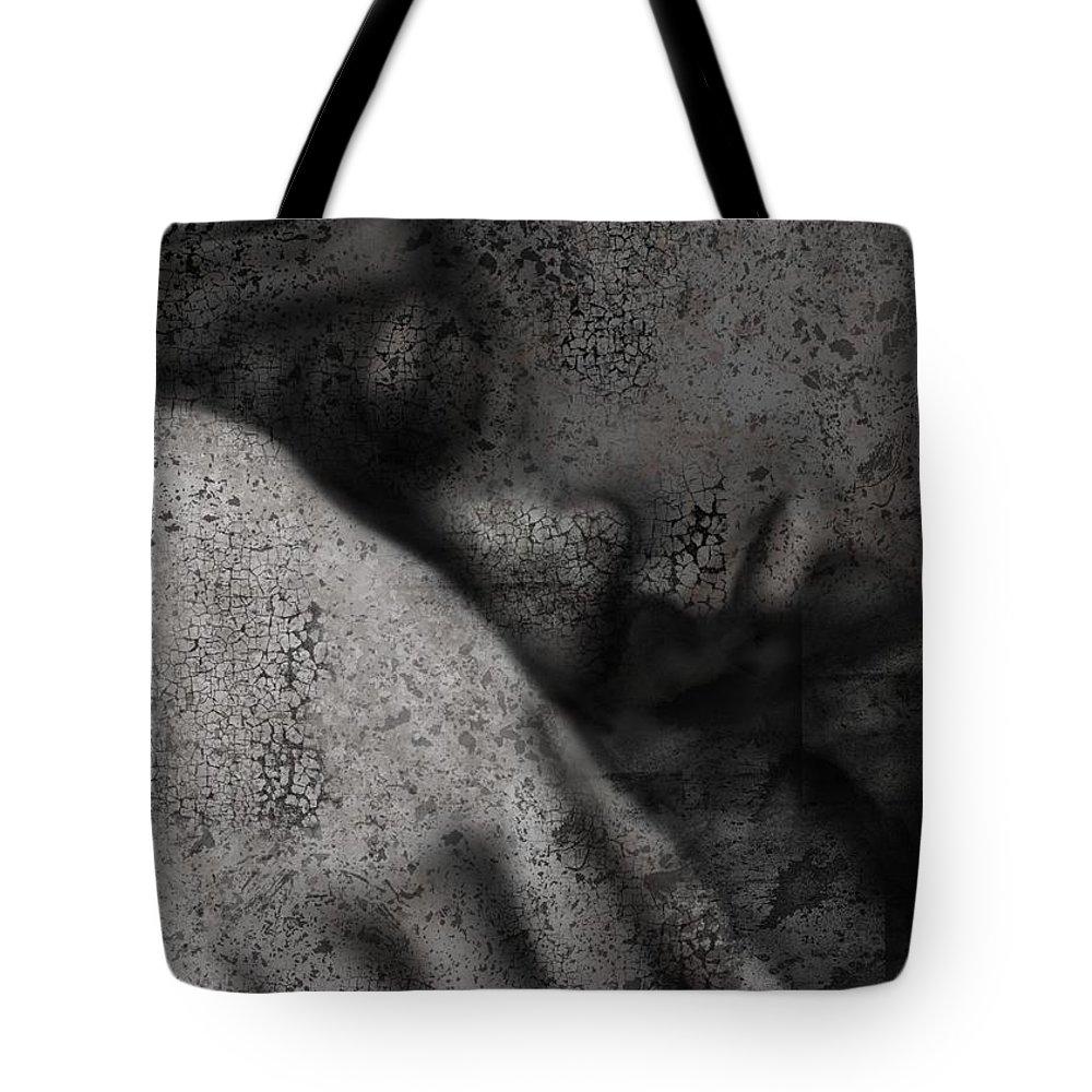 Stone Tote Bag featuring the digital art Aged Sorrow by Ellen Dawson