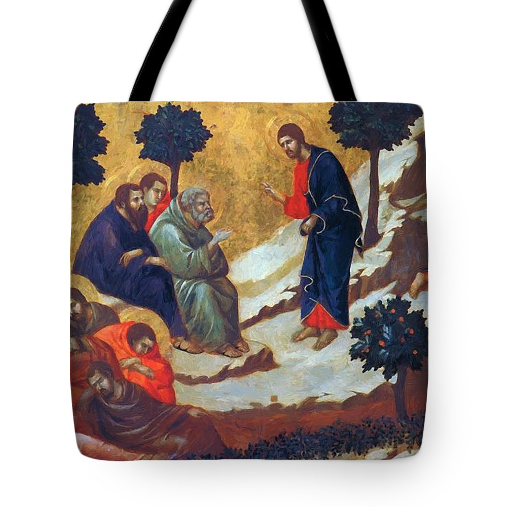Agony Tote Bag featuring the painting Agony In The Garden 1311 by Duccio