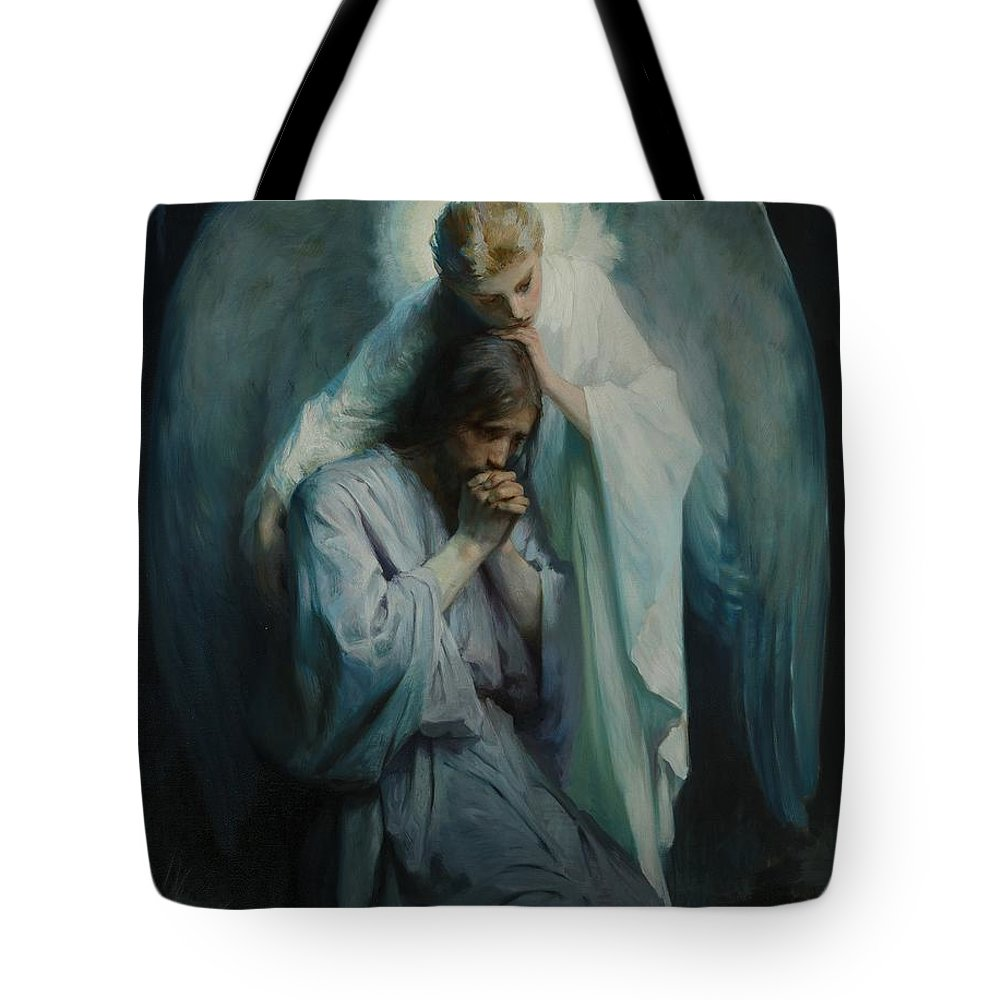 Frans Schwartz Tote Bag Featuring The Painting Agony In The Garden By Frans  Schwartz