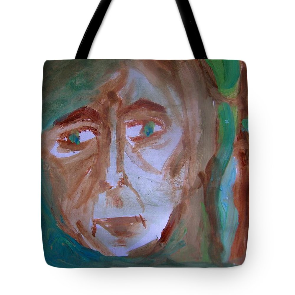 Abstract Tote Bag featuring the painting Agoraphobia by Judith Redman