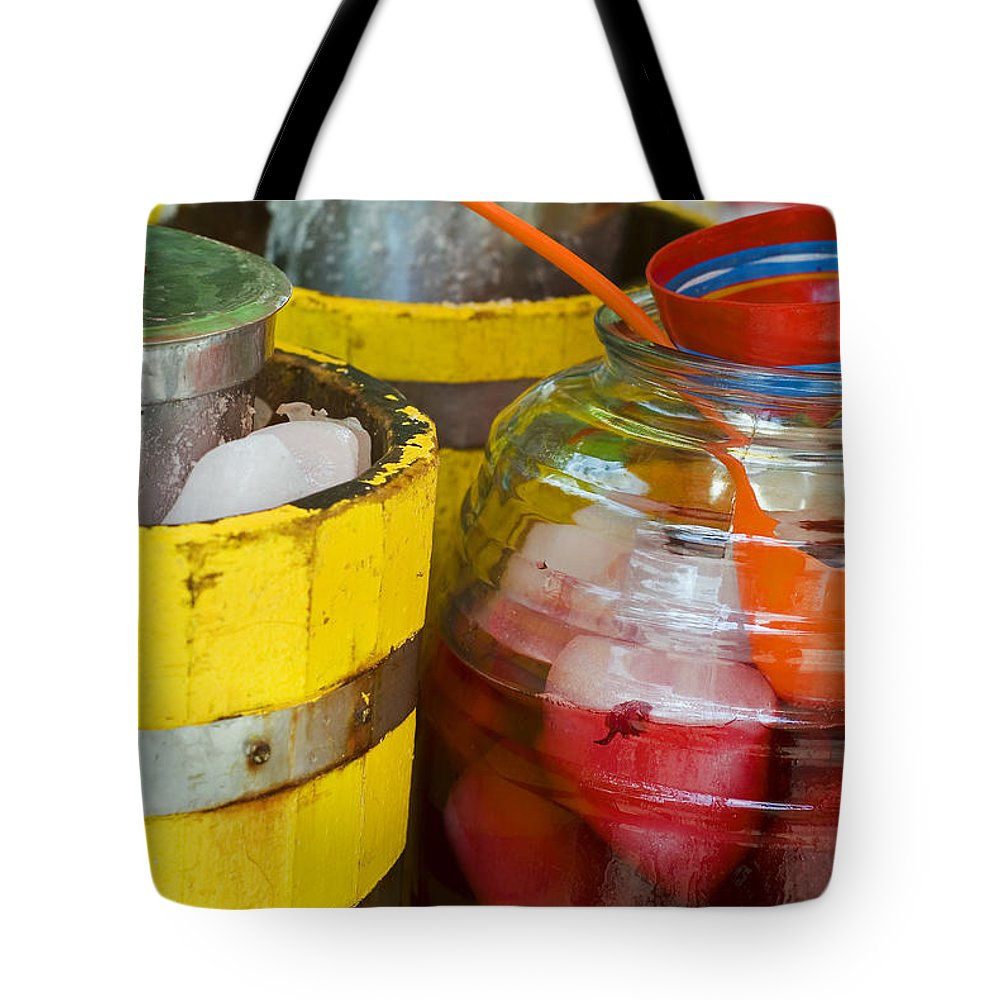 Beverage Tote Bag featuring the photograph Agua De Hamaica by Skip Hunt