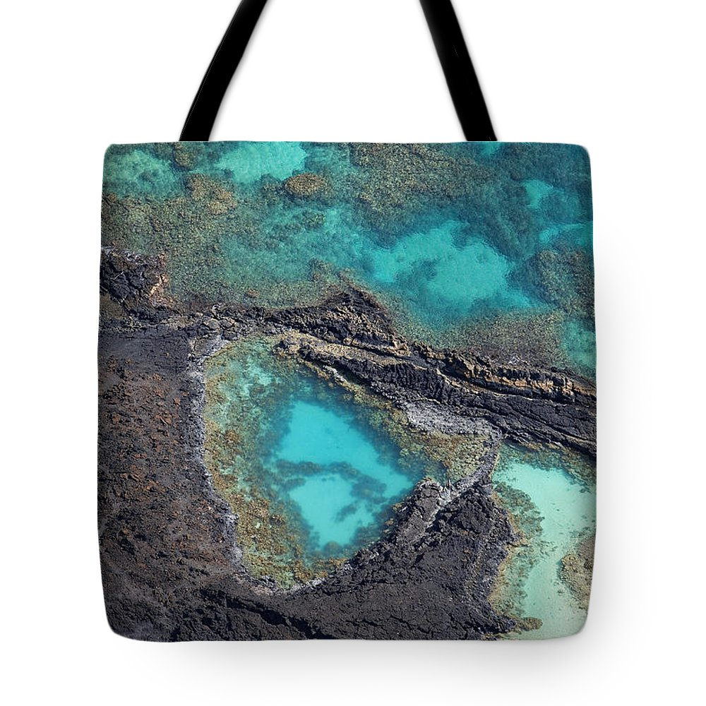 Aerial Tote Bag featuring the photograph Ahihi Kinau Natural Preserve by Ron Dahlquist - Printscapes