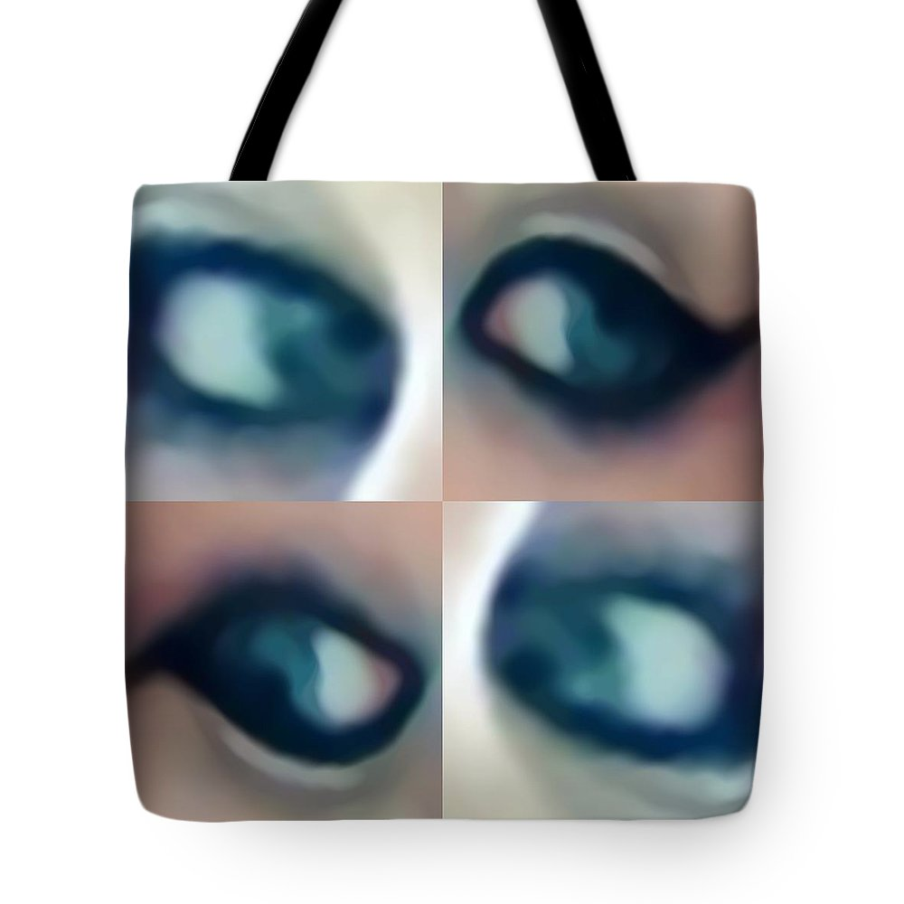 Eyes Tote Bag featuring the digital art Aicrossi by Deric Neufeld