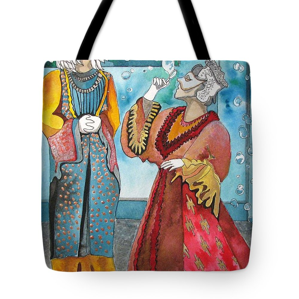 Tote Bag featuring the painting Air And Feathers by Patricia Arroyo