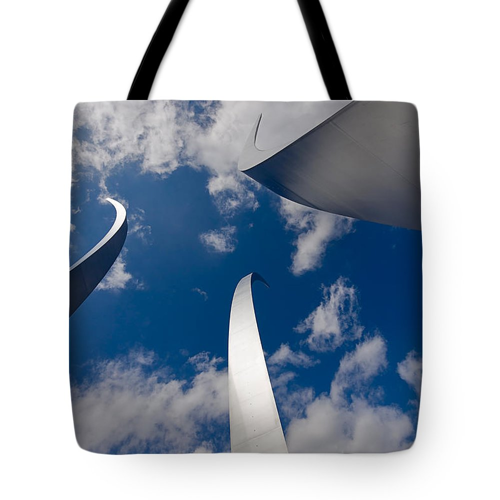 Travel Tote Bag featuring the photograph Air Force Memorial by Louise Heusinkveld