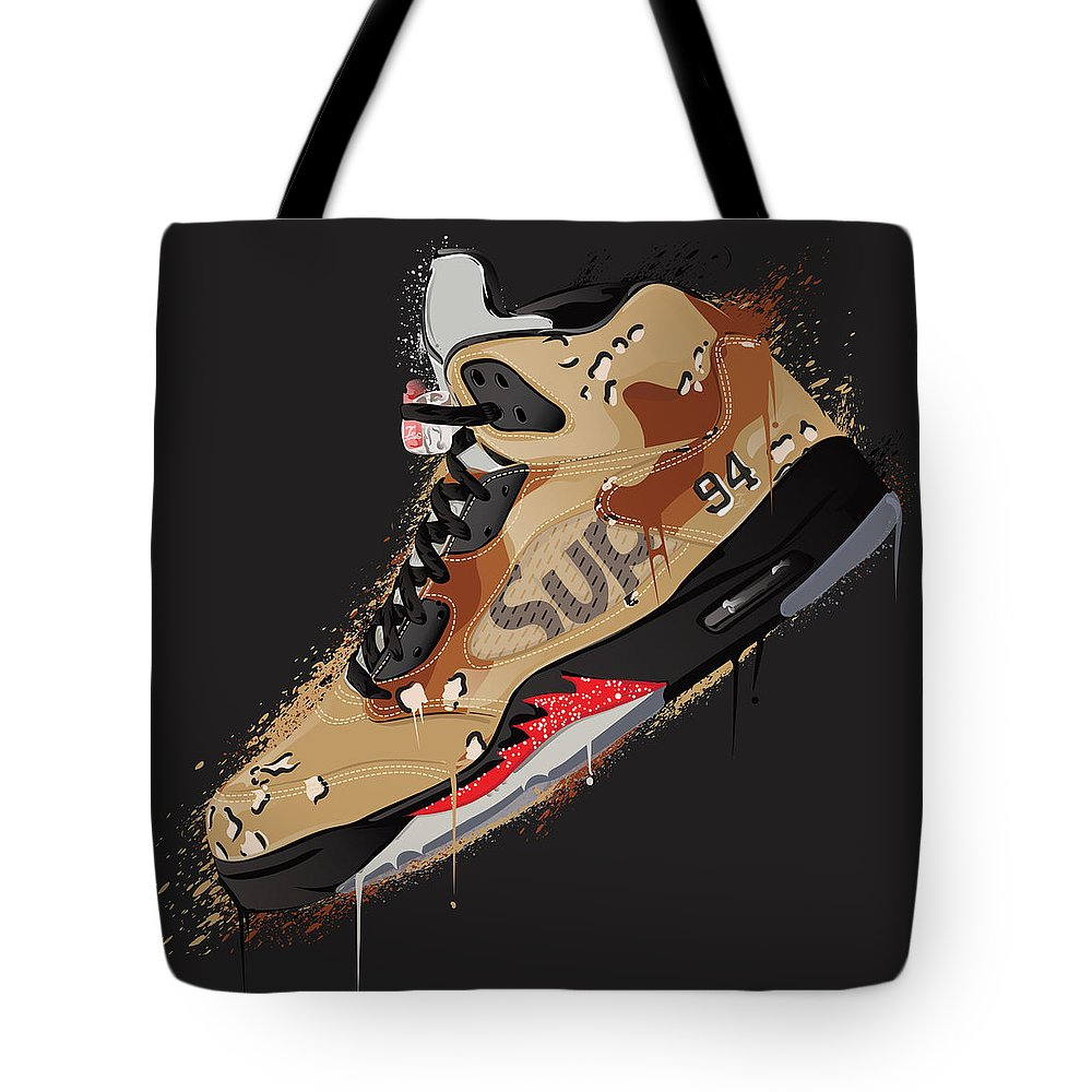 big sale fa72a 79f2c Air Jordan 5 Retro Supreme Desert Camo Tote Bag