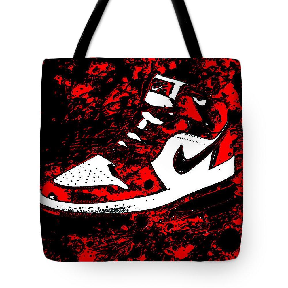 116236974bea Michael Jordan Tote Bag featuring the mixed media Air Jordan I Notorious by Brian  Reaves