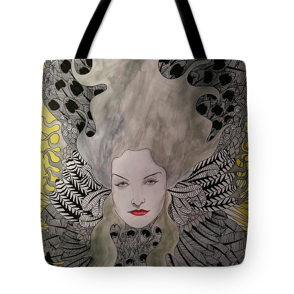 Tote Bag featuring the mixed media Air by Rafael Colon