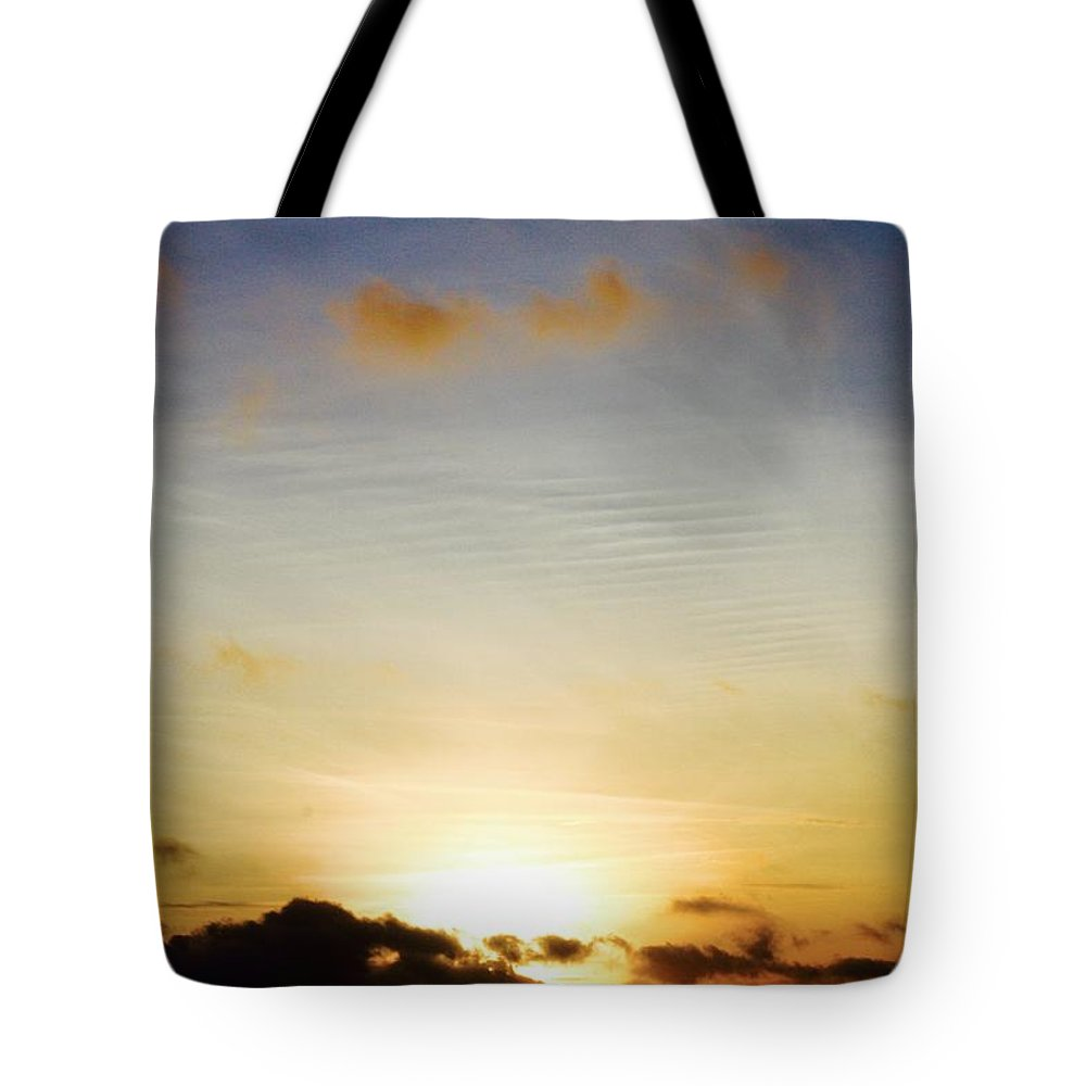 Air Tote Bag featuring the painting air by Rick Triest