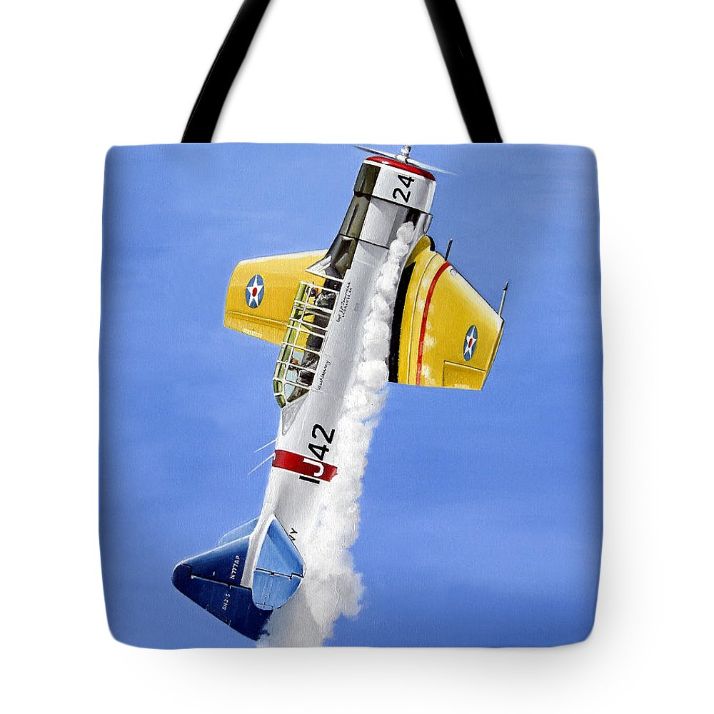 Military Tote Bag featuring the painting Air Show by Marc Stewart