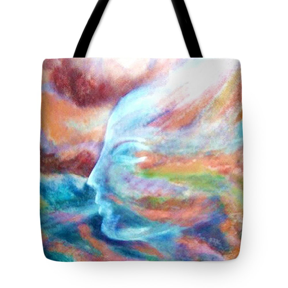 Original Art Tote Bag featuring the painting Air Whisper by Rae Chichilnitsky
