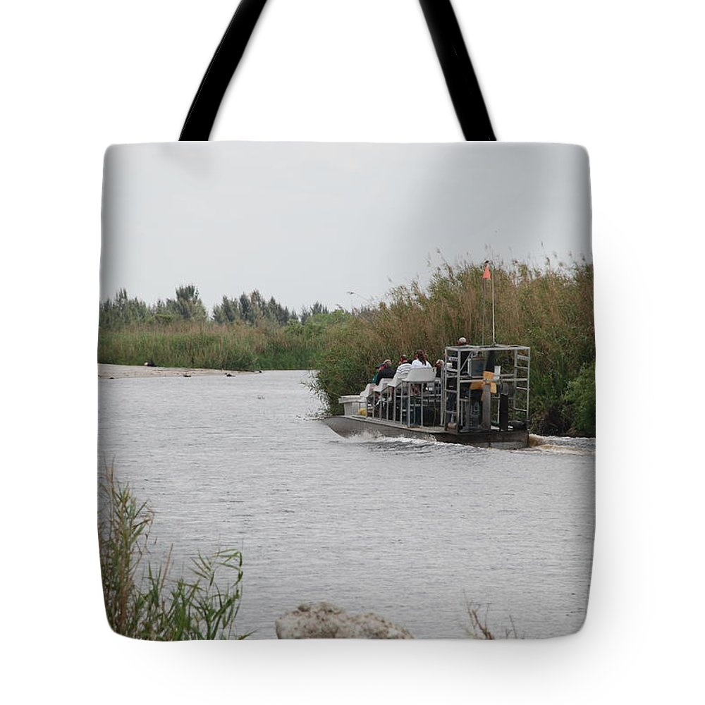 Everglades Tote Bag featuring the photograph Airboat Rides 25 Cents by Rob Hans