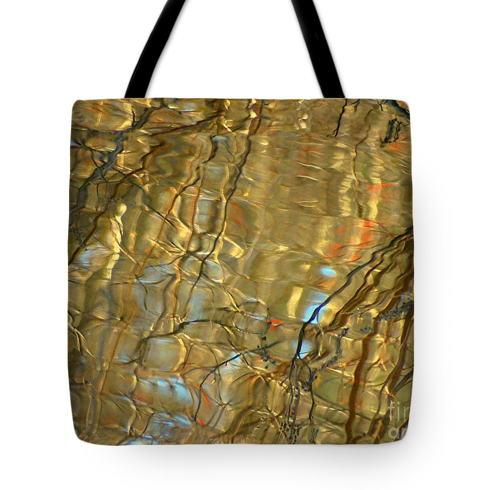 Abstract Tote Bag featuring the photograph Airline Trail Abstract 2 by Pat Miller