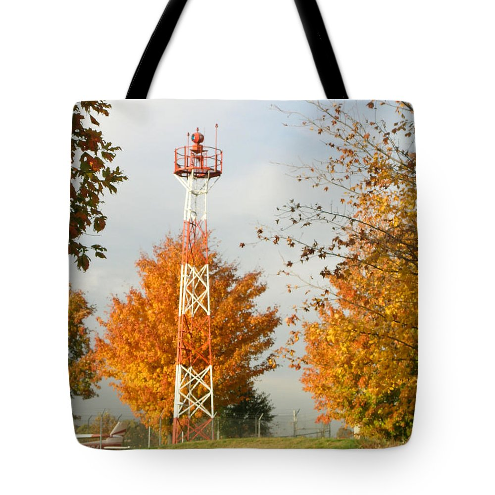 Airport Tote Bag featuring the photograph Airport Tower by Douglas Barnett