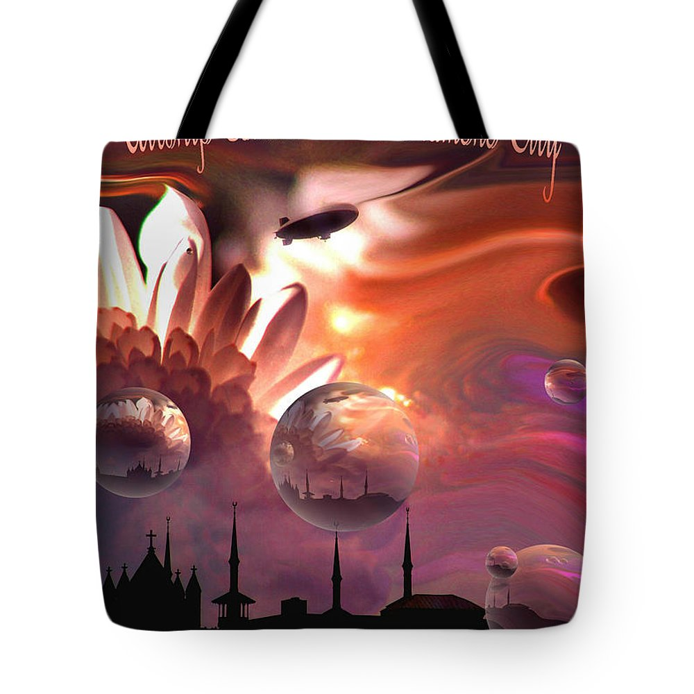 Wilkes Barre Tote Bag featuring the photograph Airship Commander... by Arthur Miller