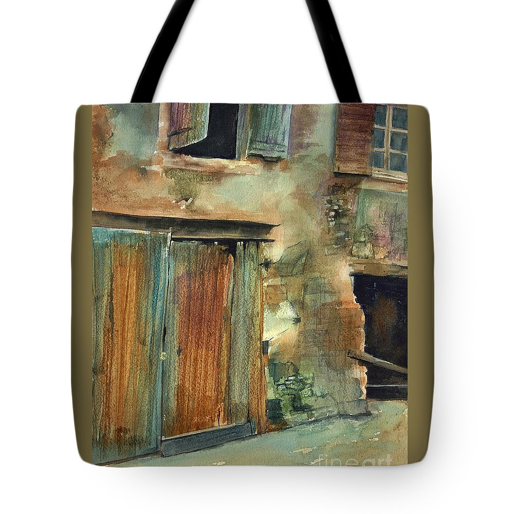 Landscape Canvas Print Tote Bag featuring the painting Aix-en-provence by Madeleine Holzberg